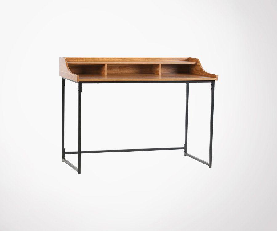 Petit bureau avec rangements bois métal RIFF - Woood