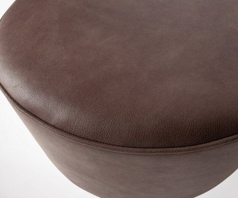 Large pouf 60cm cuir style vintage FOFFEE - Vtwonen