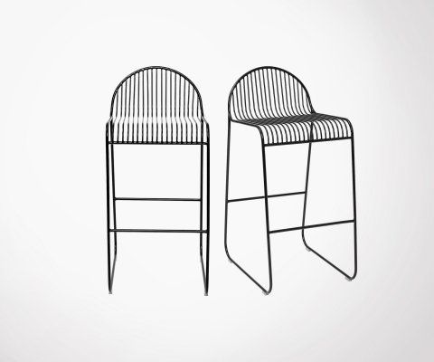 Lot de 2 tabourets de bar métal OSTA -Bloomingville