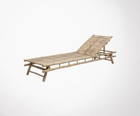 Chaise longue bambou outdoor LEMA - Bloomingville