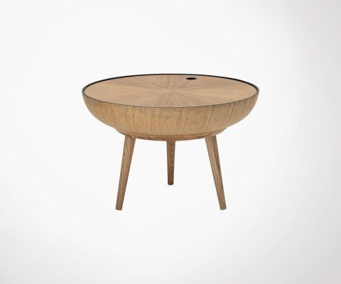 Table basse ronde chêne 60cm LEXI - Bloomingville