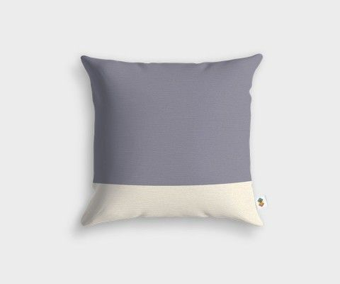 BASIC Stripped Grey White Cushion - 45x45cm
