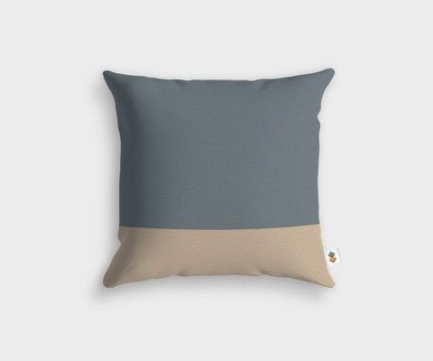 BASIC Stripped Grey Slate Cushion - 45x45cm