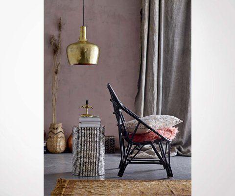 Table d'appoint design argentée GIANNA - Bloomingville