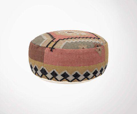 Pouf ethnique multi-color en coton DAHLIA - Bloomingville