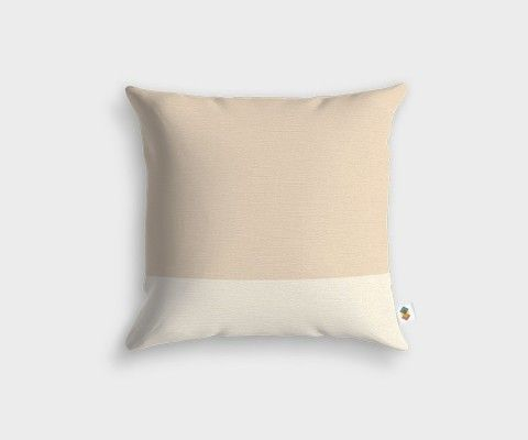 BASIC Stripped White Linen Cushion - 45x45cm