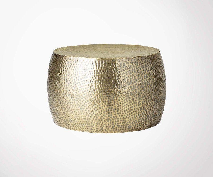 Table basse métal martelé doré HELLA - Bloomingville