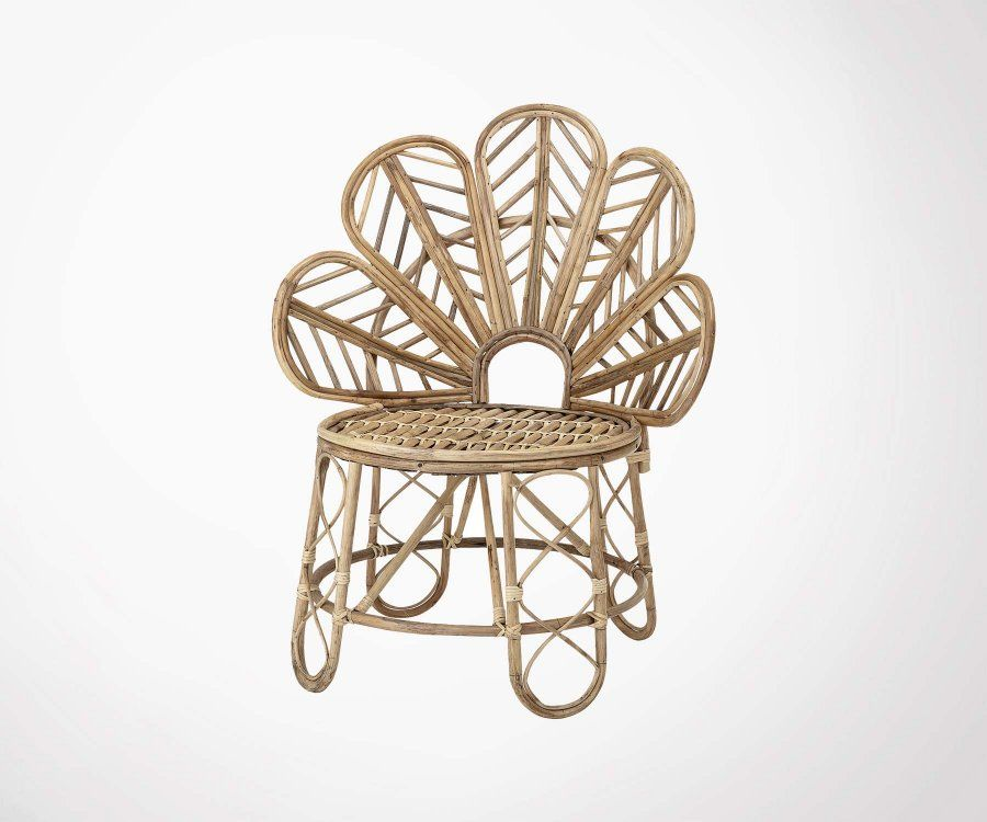 Chaise rotin fleurs EMMY - Bloomingville