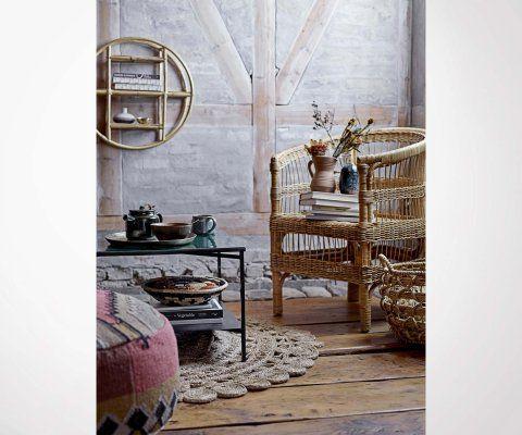 Petite étagère murale sphère rotin SIA - Bloomingville