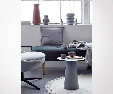 Petite table basse ronde champignon BO - Bloomingville