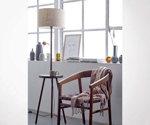 Chaise vintage bois cuir année 30 VITUS - Bloomingville