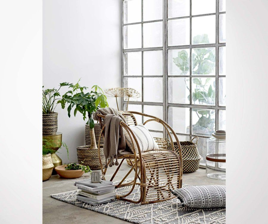 Fauteuil relax rotin cannage look bohème TUBO - Bloomingville