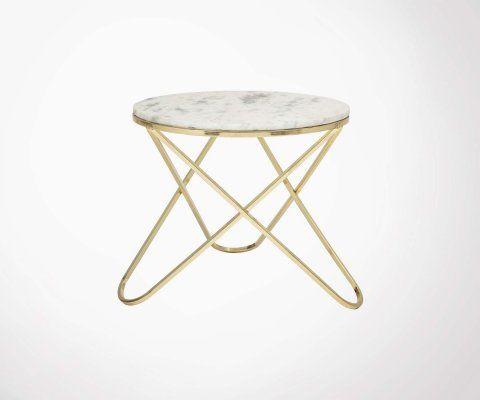 Petite table basse marbre ronde 57cm NUEVO - Bloomingville