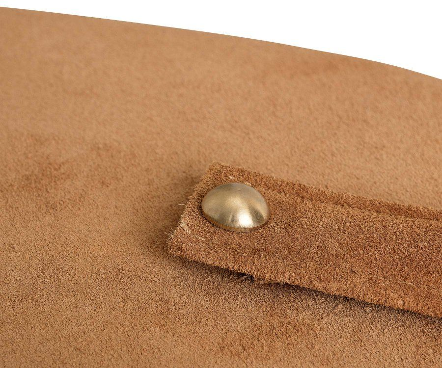 Grand pouf design tissu suédine TIME - Bloomingville