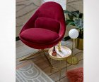 Fauteuil lounge velours BISOU - Bloomingville