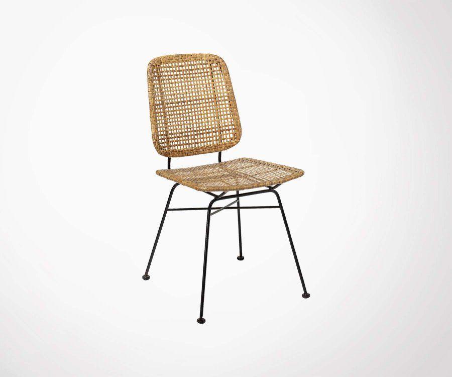 Lot 2 chaises rotin look vintage LAUREL - Bloomingville
