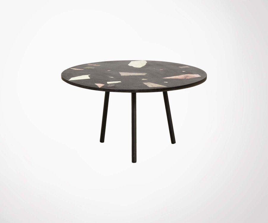 Table basse ronde terrazzo 76cm ZARC - Nordal