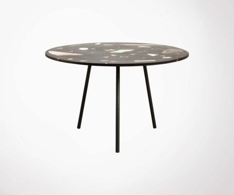 Table à manger ronde terrazzo 120cm - Nordal