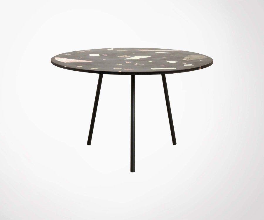 Table à manger ronde terrazzo 120cm ZARC - Nordal