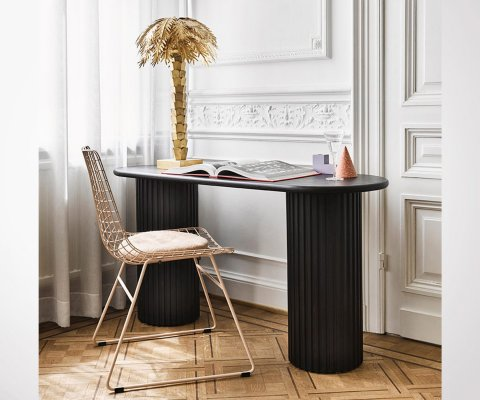GOLDIE Brass Palm Table Lamp - gold finish