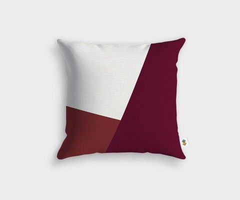 Cherry + White + Raspberry Cushion - 45x45cm