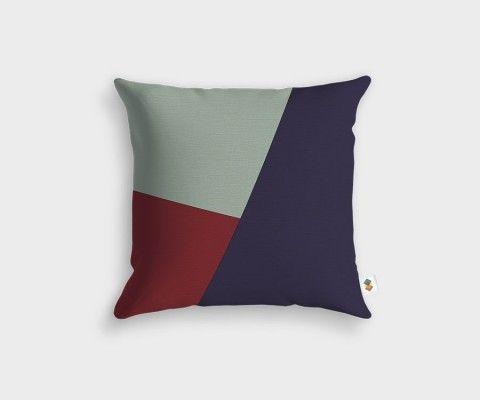 Chalk + Clematis + Raspberry Cushion - 45x45cm