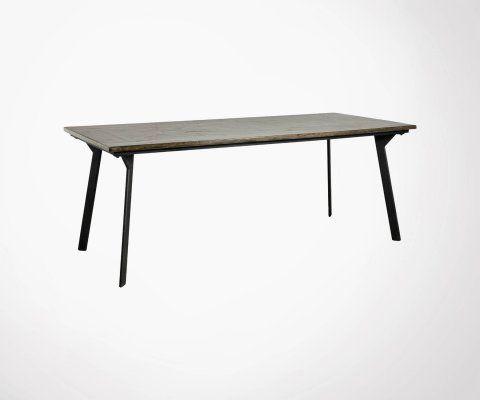 Table à manger rétro 200cm CHESTNUT - Nordal