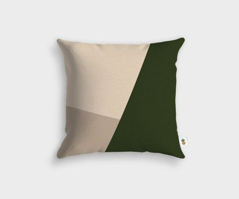 Slate + Khaki + Linen Cushion - 45x45cm