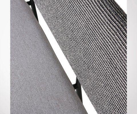 Banc design tapissé pieds métal PROTE - HK Living