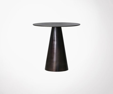 Table d'appoint 49cm métal aspect vieilli KOZAN - HK Living