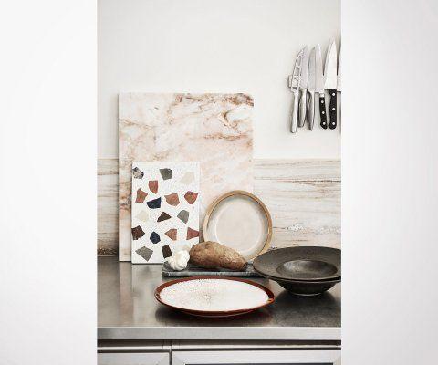 Planche à découper marbre rosé POLLY - HK Living
