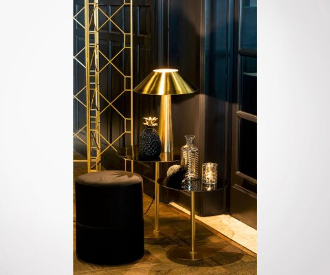 Ajustable bronze design desk lamp FOCUS - 45 cm
