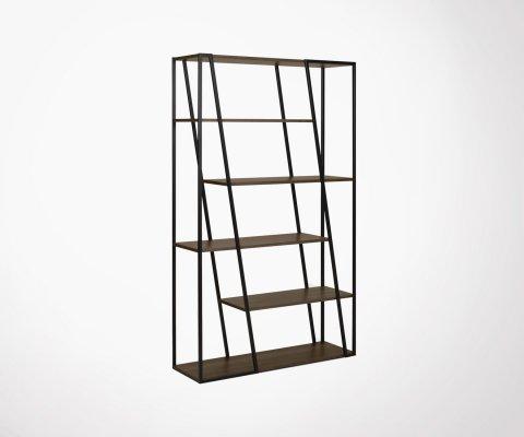 Bibliothèque design bois métal ALBI - Temahome