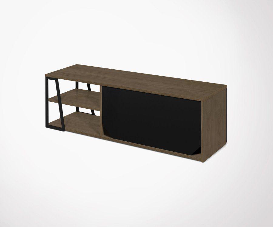 Meuble TV moderne bois métal ALBI - Temahome