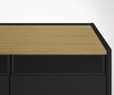 Meuble TV 160cm moderne en bois RADIO - Temahome