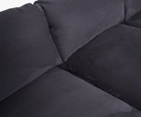 Canapé d'angle gauche design tissu RICKY - Woood