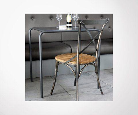Chaise métal ACHYLE - Red Cartel