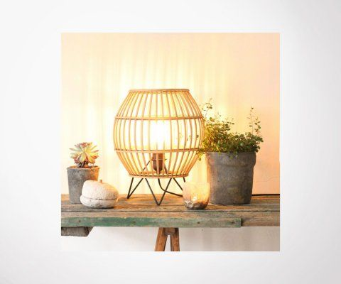 Lampe en rotin naturel BAYA - Red Cartel