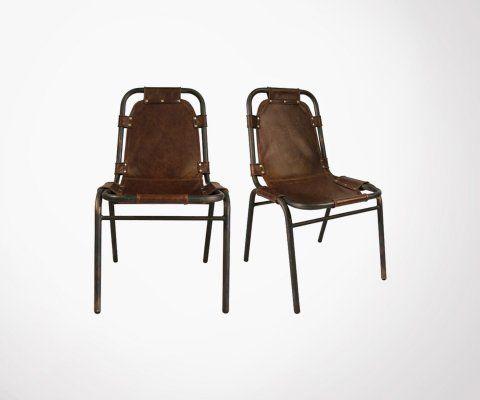 Chaise aspect cuir ALMA - Red Cartel