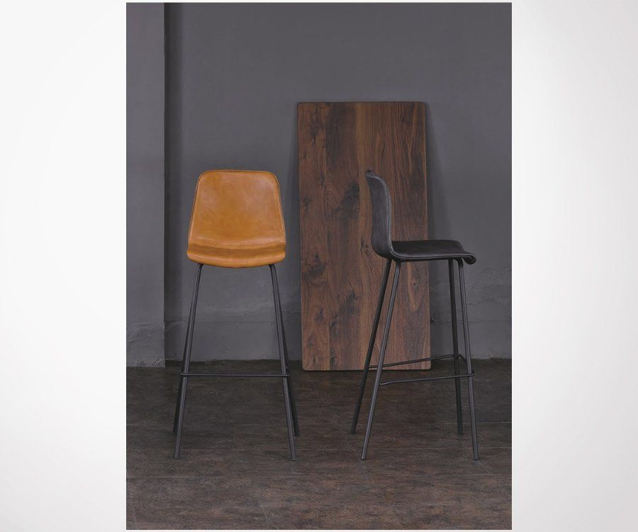 Tabouret de bar simili cuir BILBAO - COD Furnitures