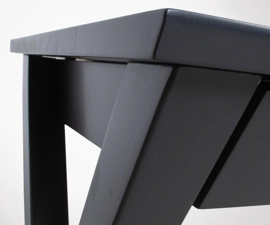 Bureau bois pieds tréteaux 110cm FOKUCE - Woood