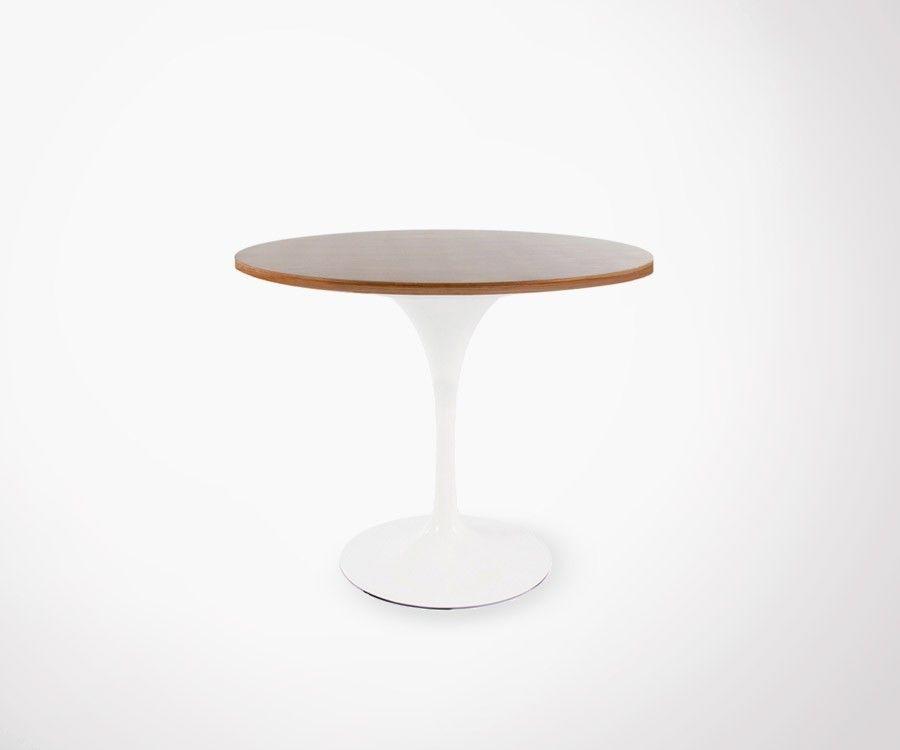 Table FLOWER noyer - 90cm