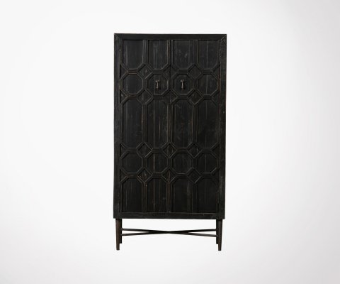 Armoire bois 143cm style ethnique DALI - BePureHome