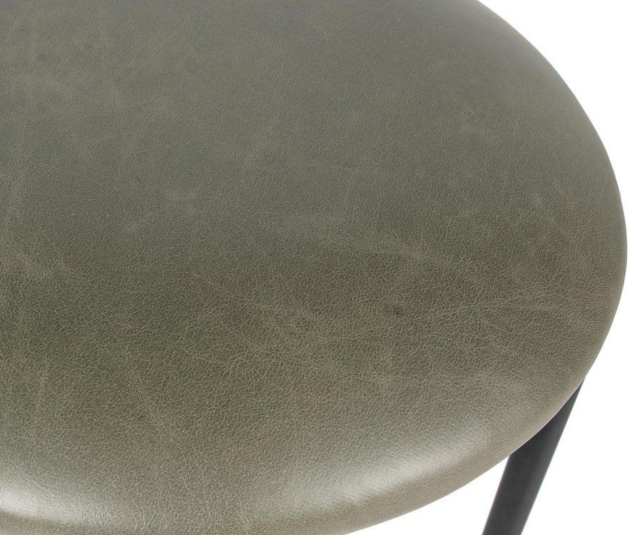 Lot 2 tabourets bas d'appoint simili cuir BUDDY - BePureHome