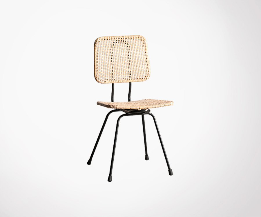 Chaise rotin style vintage COLUMBIA