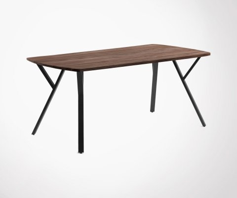 Table à manger 200x95cm acacia massif et métal BORN