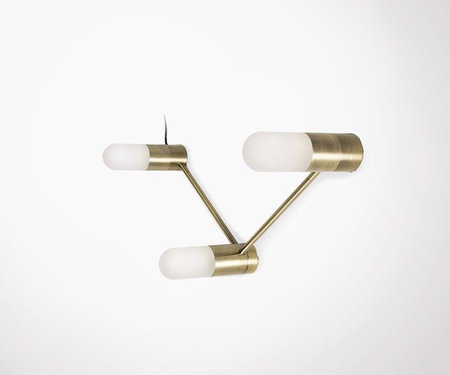 Lampe à poser ou suspendre VOLT - laiton