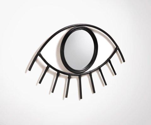 Miroir rotin oeil 45x72cm MARTA
