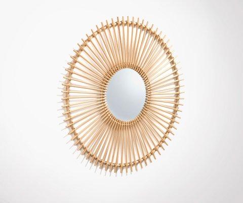 Miroir rond 81cm rotin naturel OUISP