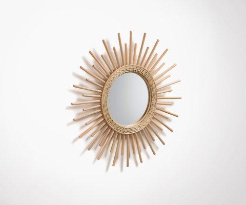 Miroir soleil en rotin naturel 60x60cm MINELI